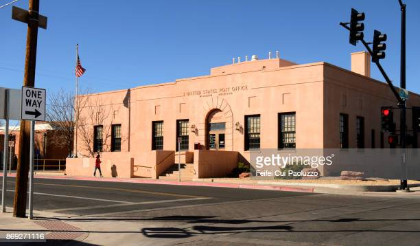 post office at winslow, arizona, usa - post office stock pictures, royalty-free photos & images