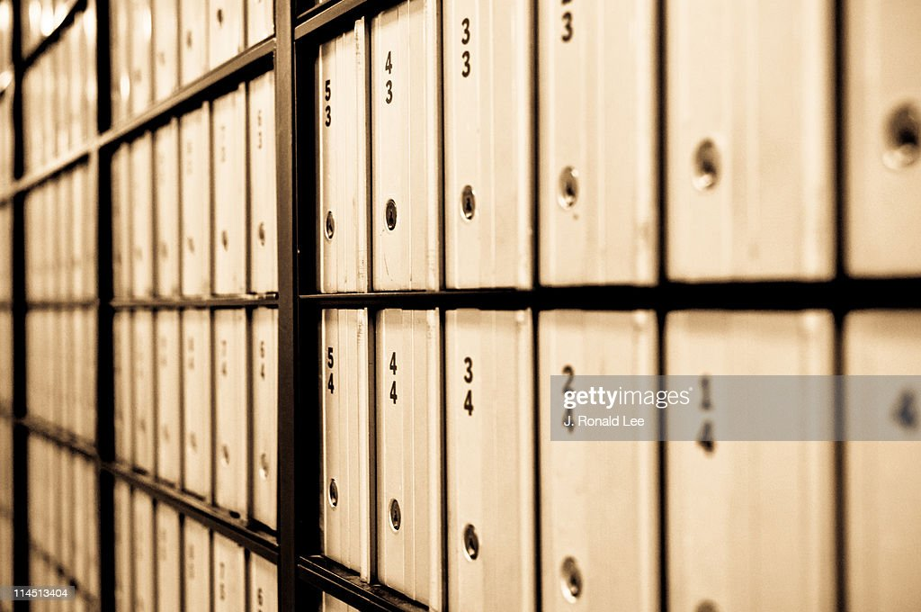 Post Office Boxes : Stock Photo