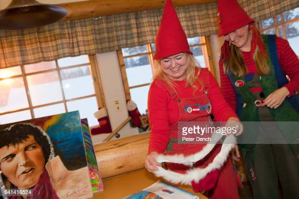 Post office elves Heidi and Ritta show a Santa Thong sent in by one admirer The 'real' Santa Claus is available to visit every day of the year at the...