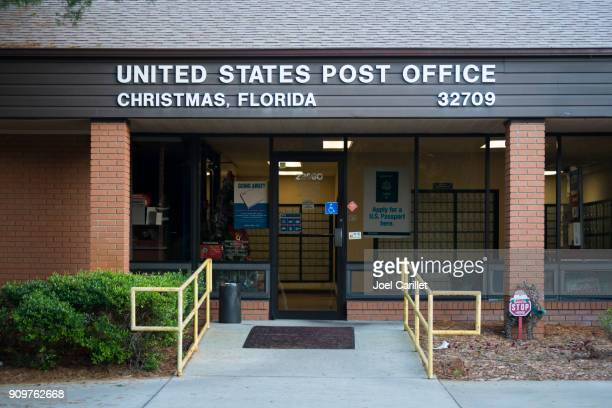 post office in christmas, florida - florida christmas stock pictures, royalty-free photos & images