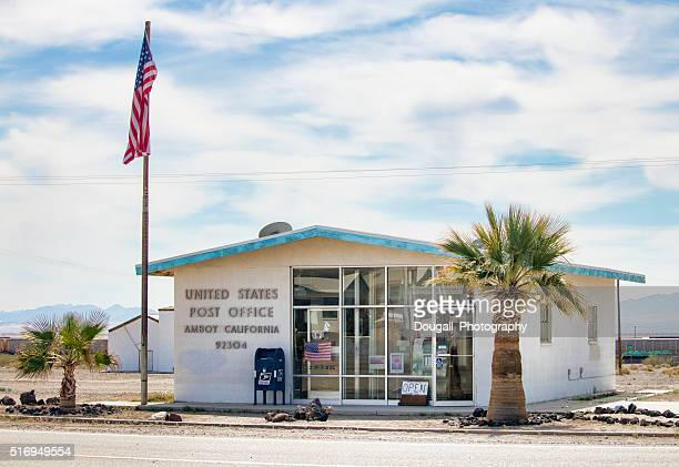 us post office in the ghost town of amboy, california - amboy california stock photos and pictures