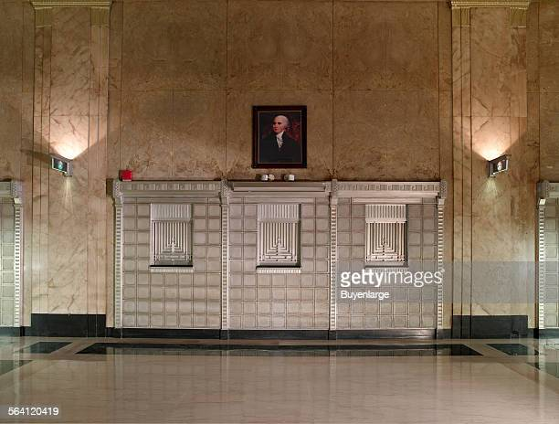 Post Office lobby detail James T Foley US Post Office and Courthouse Albany New York