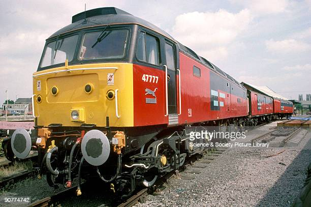 Post Office railcar number 47777 on the East Coast Main Line at York by Chris Hogg July 1994 This locomotive has been restored Post Office trains had...