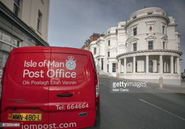 Post Office van is parked outside the Tynwald building housing the Parliament of the Isle of Man on November 8 2017 in Douglas Isle of Man The Isle...