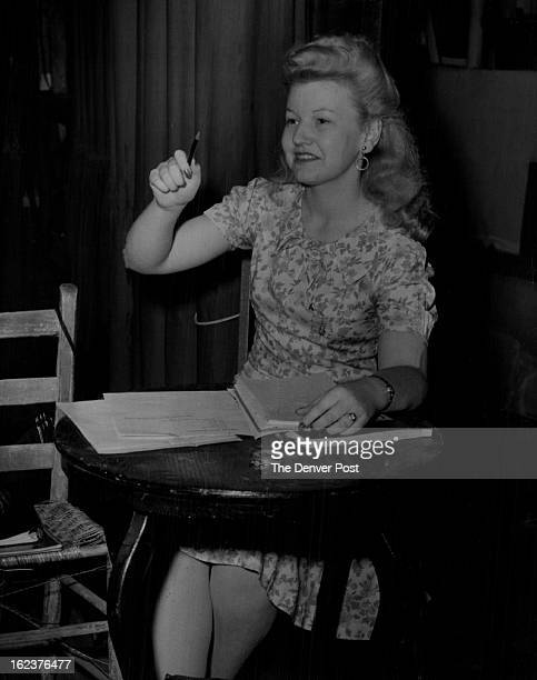 JUN 26 1943 Post Opera 1943 Helen Thomas When the Stage Manager of The Denver Post's Summer Operas happens to be a pretty girl the company is very...