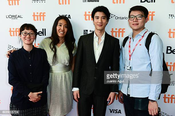 Post Production Producer Han Lee Segment Director Bertha Pan Singer/Songwriter Leehom Wang and Associate Director Ten Dollars attend the 'Leehom...