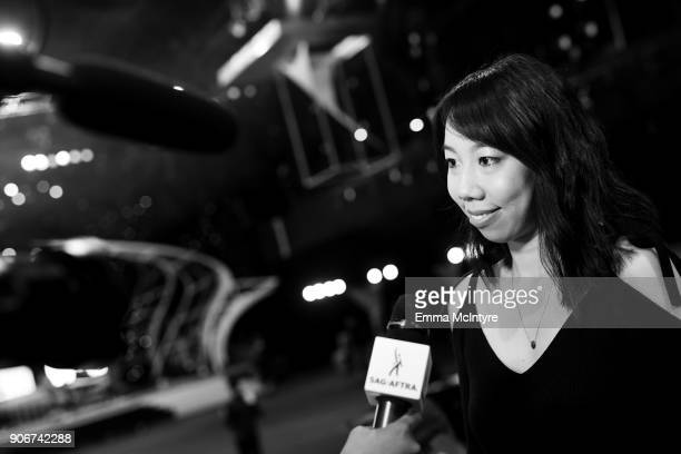 Post SAG Awards Gala Spokesperson Melody Chiu at the 24th Annual Screen Actors Guild Awards Behind The Scenes Day at The Shrine Auditorium on January...