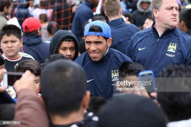 Post Season Tour of USA Manchester City visit the Four Boroughs New York Manchester City's Carlos Tevez during the four boroughs visit in New York...
