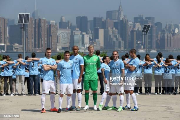 Post Season USA Tour Manchester City Nike Shoot St Louis#10#10 Manchester City's Matija Nastasic James Milner Vincent Kompany Joe Hart Carlos Tevez...
