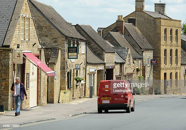 post van in stow-on-the wold - stow on the wold stock pictures, royalty-free photos & images
