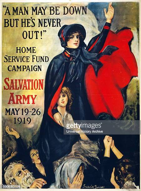 Post World war One 'Home Service Fund' Campaign poster by the Salvation Army 1919