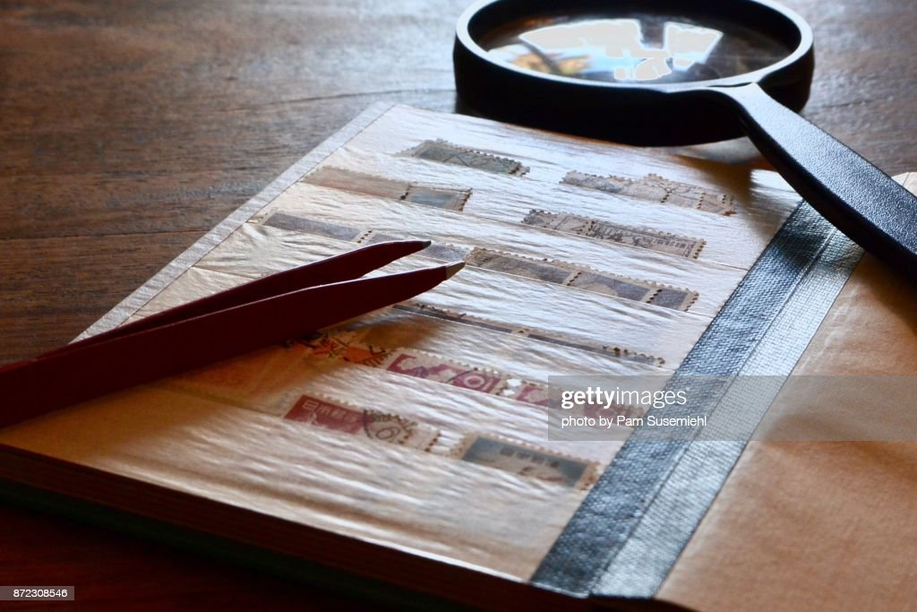 Postage Stamp Collection : Stock Photo