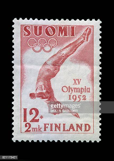 Postage stamp commemorating the 15th Olympic Games in Finland 1952 Finland 20th century Finland