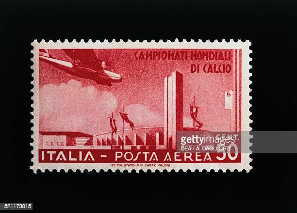 Postage stamp commemorating the 1934 FIFA World Cup 50cent airmail stamp Italy 20th century Italy