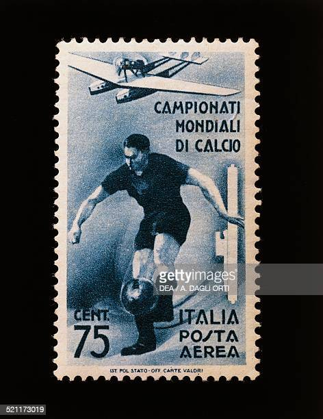 Postage stamp commemorating the 1934 FIFA World Cup 75cent airmail stamp Italy 20th century Italy