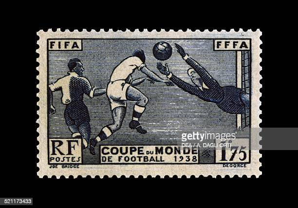 Postage stamp commemorating the 1938 FIFA World Cup France 20th century France