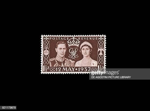 Postage stamp commemorating the Coronation of George VI , 1937. United Kingdom, 20th century. London, National Postal Museum United Kingdom