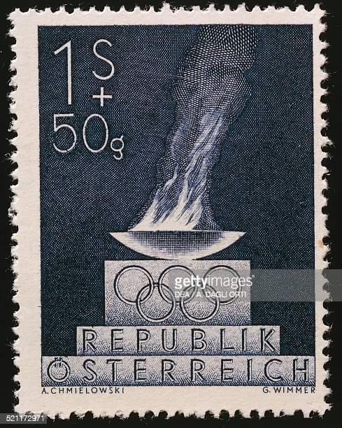 Postage stamp commemorating the London Olympics 1948 Austria 20th century Austria