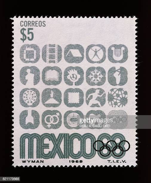 Postage stamp commemorating the Olympic Games in Mexico 1968 Mexico 20th century Mexico