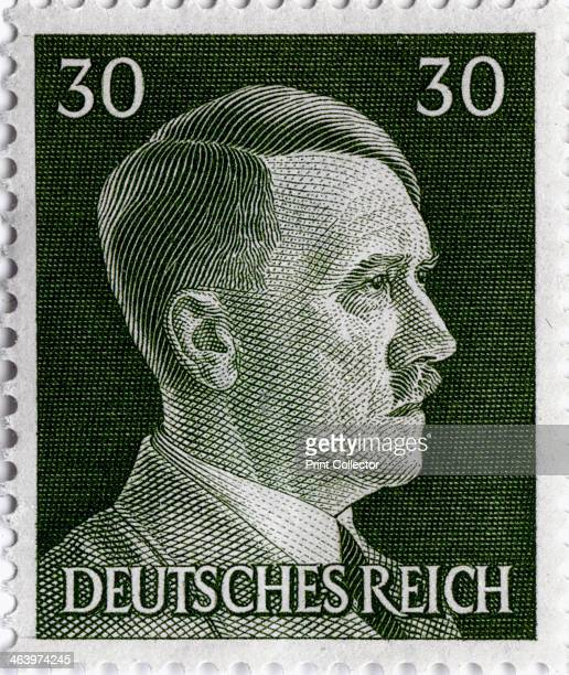 Postage stamp featuring Adolf Hitler 19411942 Hitler was appointed Chancellor of Germany in 1933 and became Führer in 1934 He pursued an aggressive...