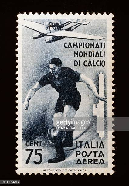 Postage stamp for the 1934 FIFA World Cup 75cent airmail stamp Italy 20th century Italy