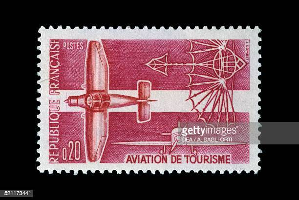 Postage stamp honouring Lightweight and sport Aviation 1962 France 20th century France