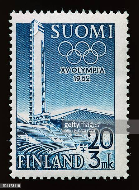 Postage stamp honouring the 15th Olympic Games in Finland 1952 Finland 20th century Finland