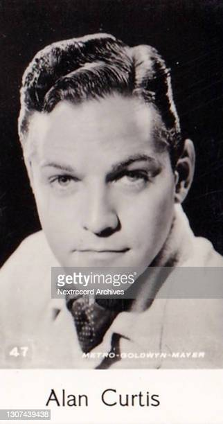 Postage stamp sized miniature collectible tobacco or cigarette card, 'Film Stars' 8th series, published in 1940 by C T Bridgewater depicting...
