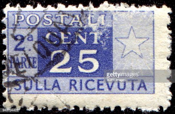 CIRCA 1946 A postage stamps printed in Italy for packets and parcels