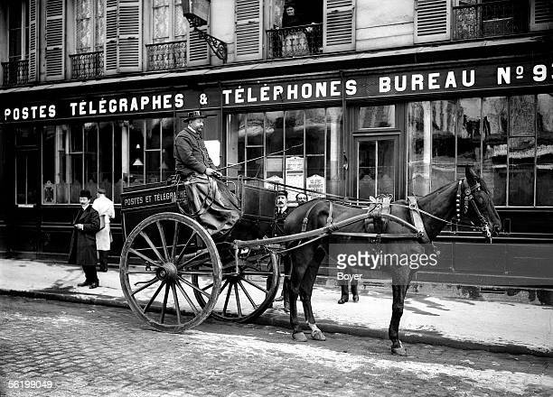 Postal car Paris 1908