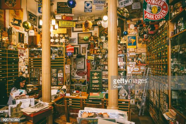 casa postal in madrid - flea market stock pictures, royalty-free photos & images