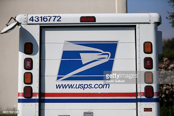 S Postal Service mail truck sits in a parking lot at a mail distribution center on February 18 2015 in San Francisco California The Postal Service is...