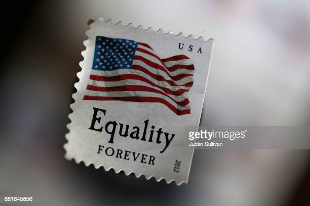 S Postal Service stamp is displayed on May 10 2017 in San Anselmo California The US Postal Service is seeking to raise the price of stamps by a penny...