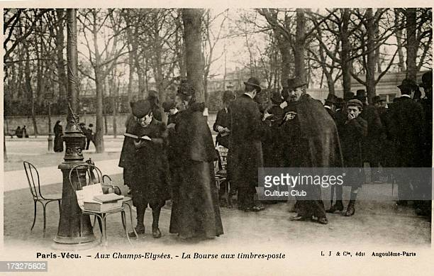 Postal stamp exchange Champs Elysées Paris Early 20th century Part of 'Paris Vécu' series
