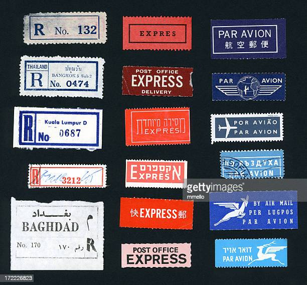 Postal Stickers from Foreign Lands