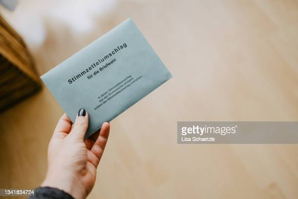postal vote for bundestagswahl in germany - referendum stock pictures, royalty-free photos & images