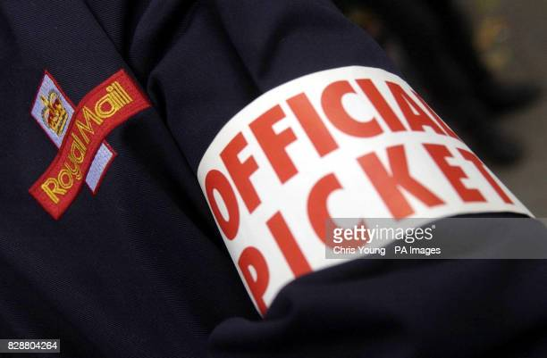 Postal workers on the picket line in central London as they stage a strike over pay The strike which crippled deliveries in London and has led to a...