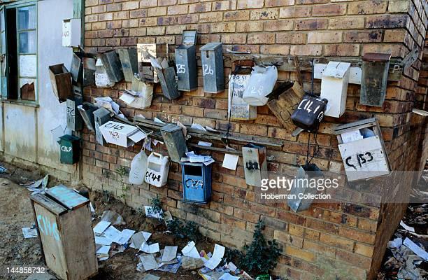 Postboxes Kayamandi township Stellenbosch Western Cape