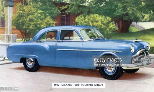 Postcard advertises the Packard Motor Company '200' Touring Sedan, 1952.