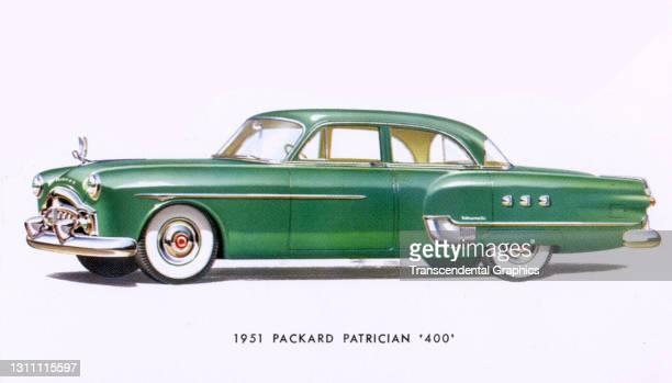 Postcard advertises the Packard Motor Company Patrician '400' Sedan, 1951.