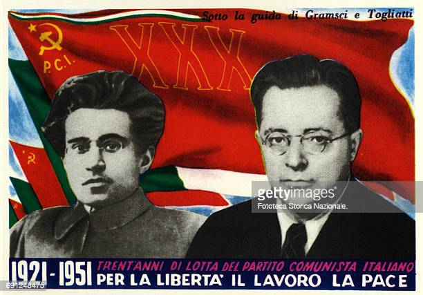 Postcard commemorating thirty years after the founding of the Italian Communist Party in 1951 Print in CMYK Italy Rome 1951