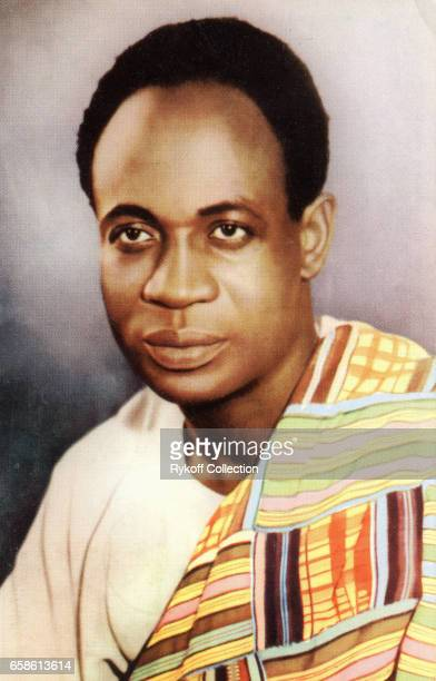 Postcard depicts Prime Minister of Ghana Dr Kwame Nkrumah July 1958 The card was published to commemorate his North American visit