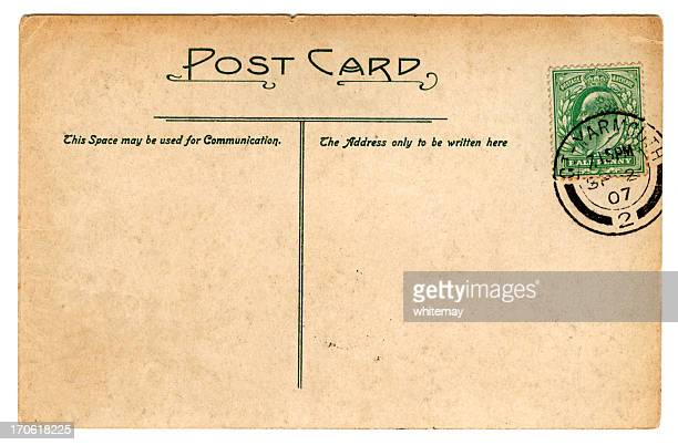 postcard: edward vii september 1907 - art nouveau stock pictures, royalty-free photos & images