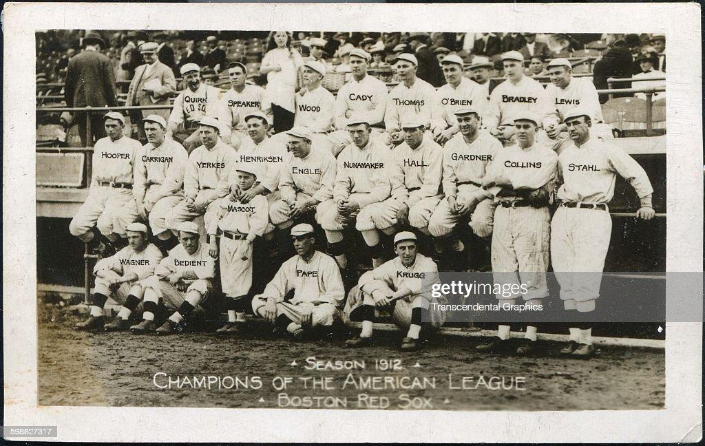 1912 Boston Red Sox : News Photo
