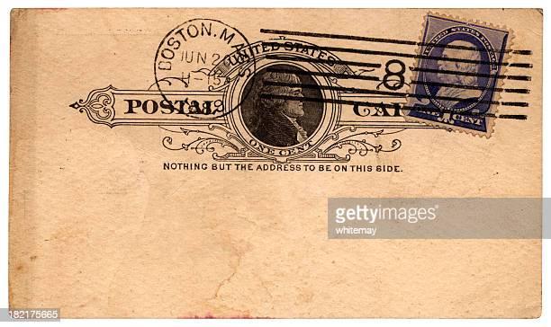 Cartão Postal de Boston, Massachusetts, a Inglaterra, 1889