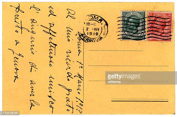 postcard from italy 1919 - 1910 1919 stock pictures, royalty-free photos & images