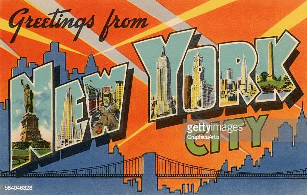 Postcard from New York City 1941 Screen print