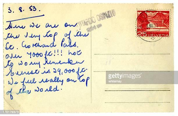 はがきから St Gotthard パス,Switzerland ,1953 年