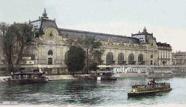 Postcard from the Gare d'Orlean known as the Gare du Quai d'Orsay now the Musee d'Orsay Paris 1905