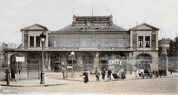 Postcard from the station of Vincennes Paris 1906